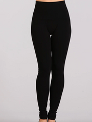 M. Rena Solid Black Leggings