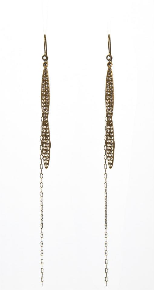 Rebel Designs Swarovski Crystal Long Earrings