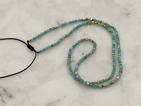 Adjustable Semiprecious Stone Necklace