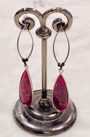 Nakamol Natural Semi-Precious Stone Teardrop Earrings