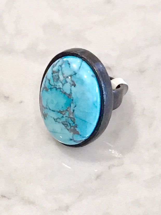 Rebel Designs Turquoise Large Oval Ring