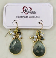 Nakamol Chicago Labradorite teardrop earrings