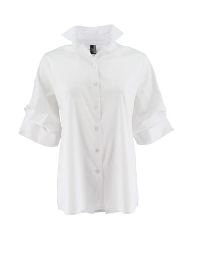 Ravel Collared Crisp White Blouse
