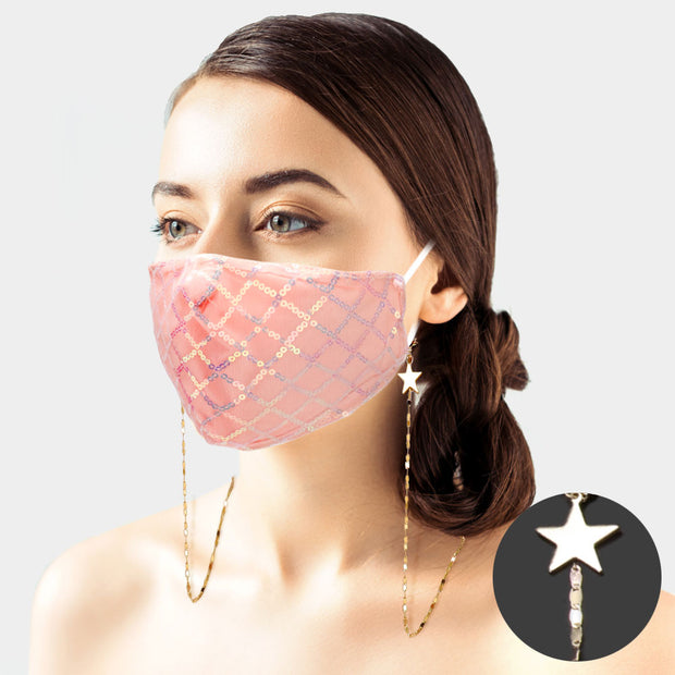 Lightweight Metal Star Mask / Glasses Holder