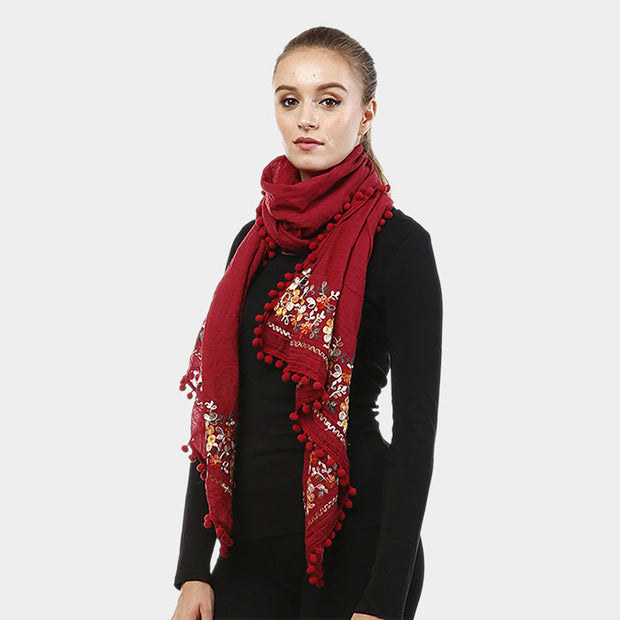 Stunning Embroidered Scarf