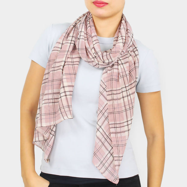 Easy Breezy Plaid Scarf