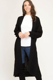 Super Cool Long Knit Cardigan