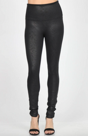 M. Rena Antiqued Faux Leather Legging