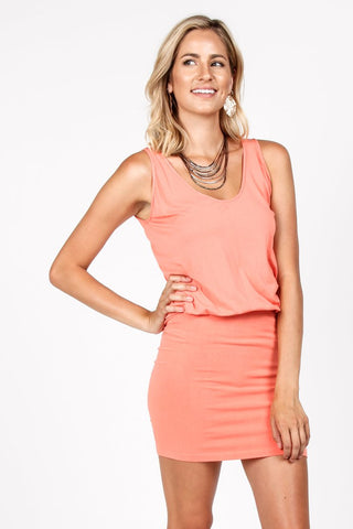 M Rena U-Scoop Loose Top / Fitted Bottom Dress