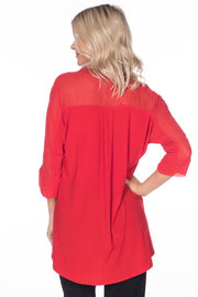 Last Tango 3/4 Sleeve Tunic with Chiffon
