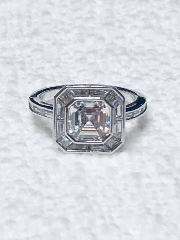 Fabulous Deco CZ Sterling Ring