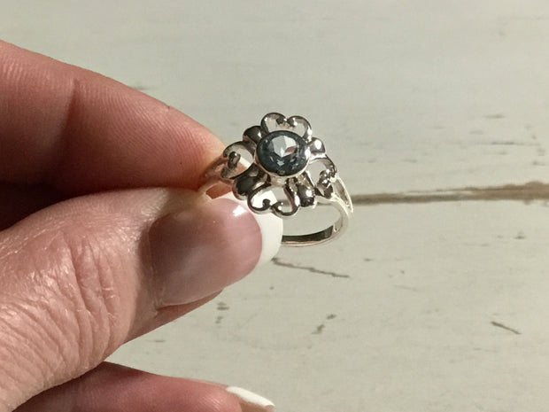 Sterling Silver Floral Burst Ring