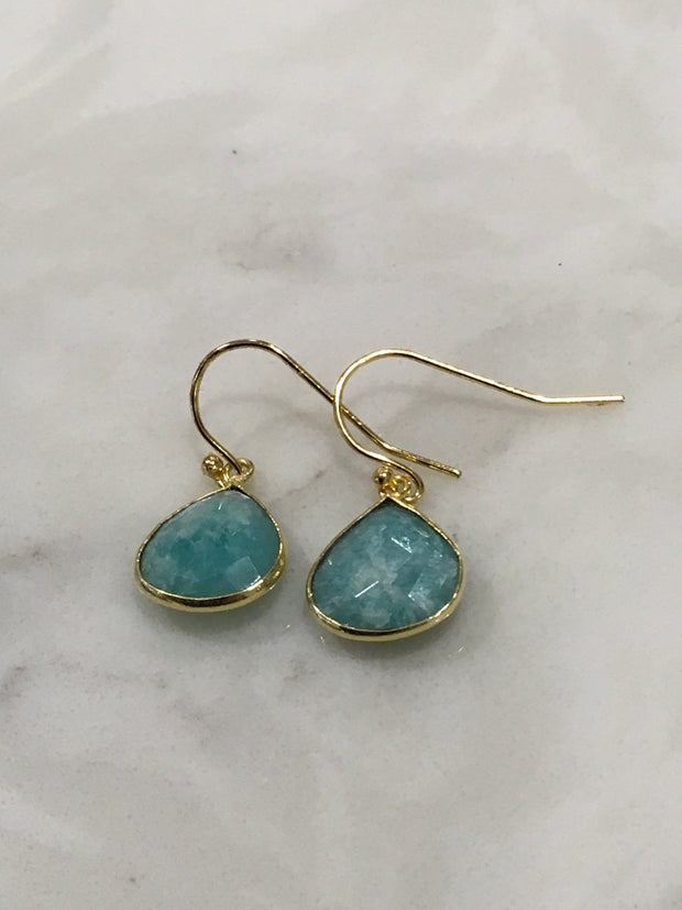 Semiprecious Stone Tear Drop Earrings