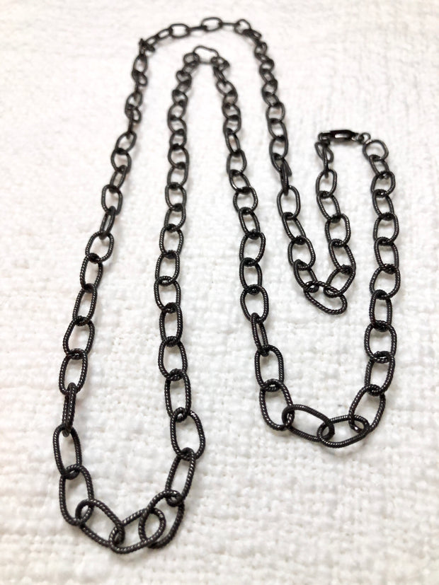 Oxidized Sterling Link Chain