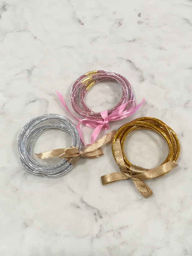 Funky Filled Sparkly Tube Bracelet Sets