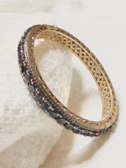 Gorgeous Diamond & Sapphire Bangle