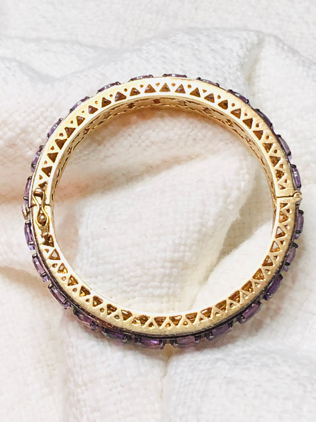 Gorgeous Diamond & Amethyst Bangle