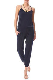 Veronica M Tank Top Two Pocket Jogger Pant JumpSuit at Leaf Boutique