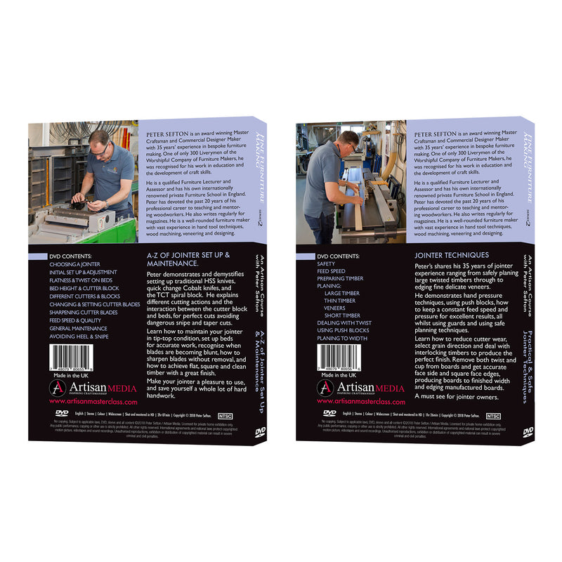 Peter Sefton's Ultimate Jointer Series - Set of 2 DVDs