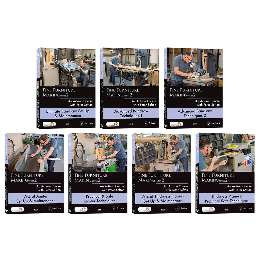 Peter Sefton's Wood Machining Series - Set of 7 DVDs