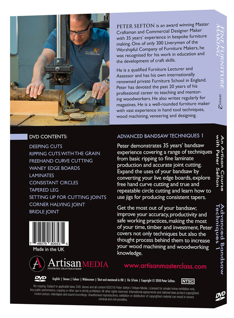 Advanced Bandsaw Techniques 1 - Peter Sefton (Download)