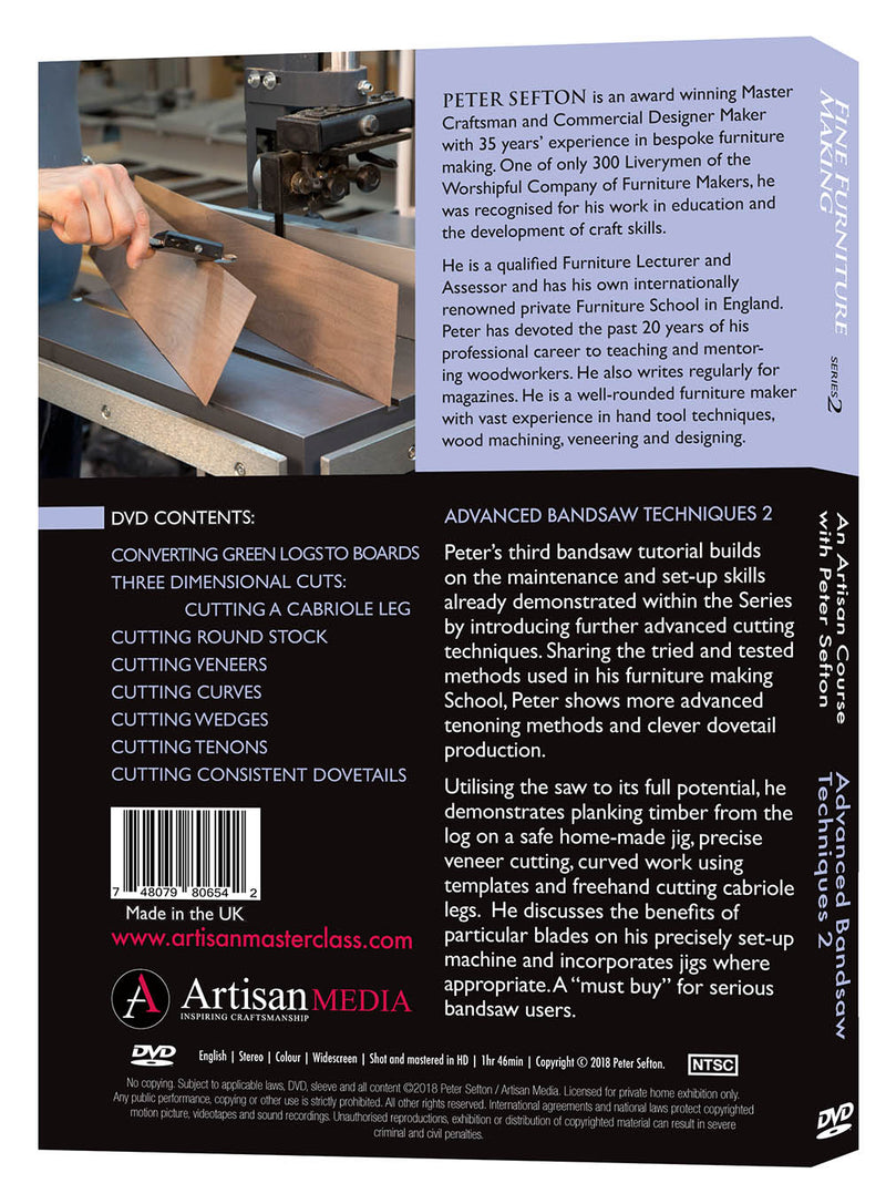 Advanced Bandsaw Techniques 2 - Peter Sefton (Download)