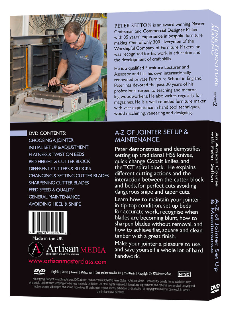 A-Z of Jointer Set Up & Maintenance - Peter Sefton - (DVD)