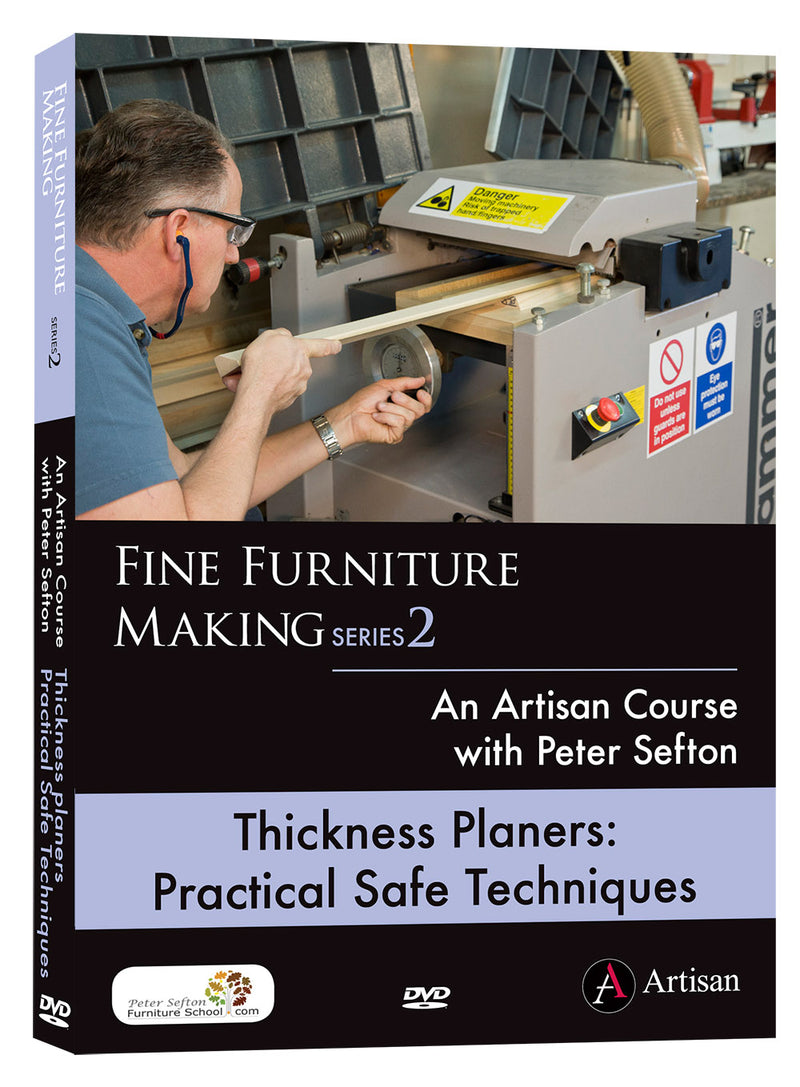 Thickness Planers: Practical Safe Techniques - Peter Sefton - (DVD)