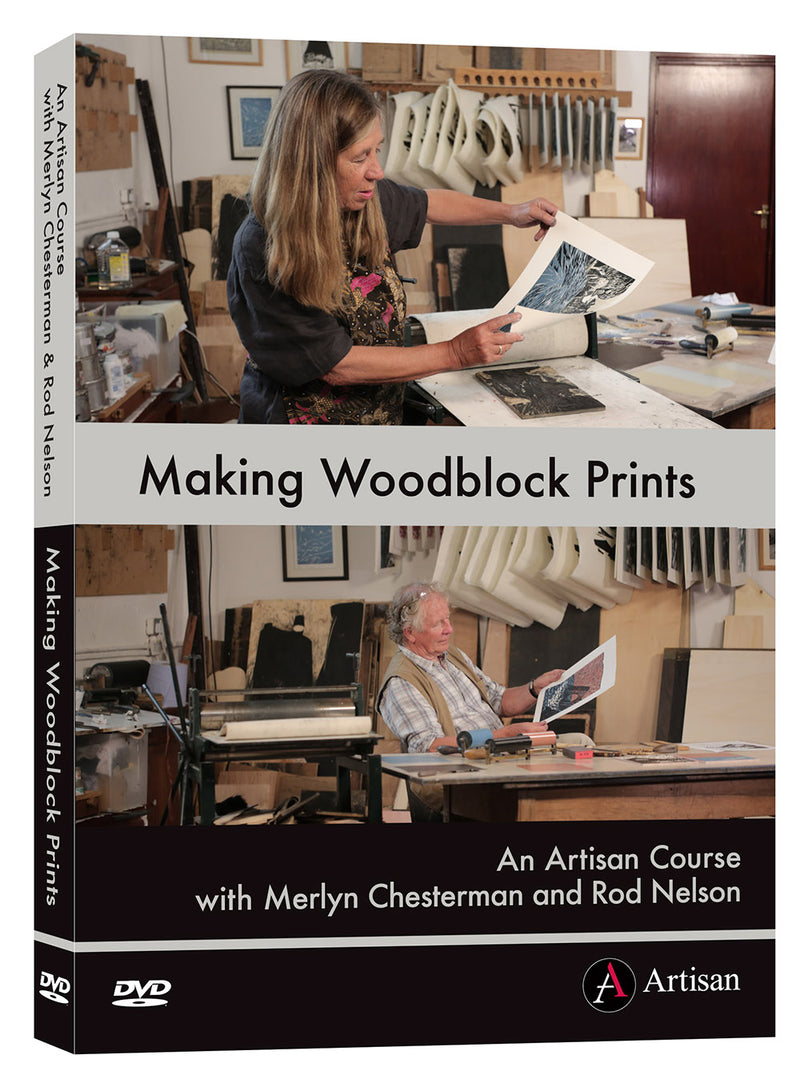Making Woodblock Prints DVD - an artisan course with Merlyn Chesterman and Rod Nelson