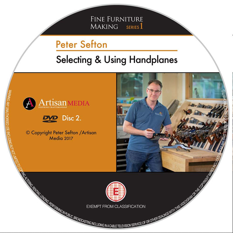 Selecting & Using Hand Planes - Peter Sefton (DVD)