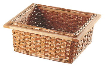 Wicker Basket, Natural with Beech Frame Frame: 520 mm For Cabinet Width 600 mm