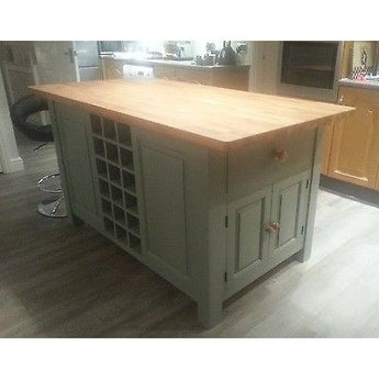 Solid Pine Island Unit, painted to your specification - Woodliving