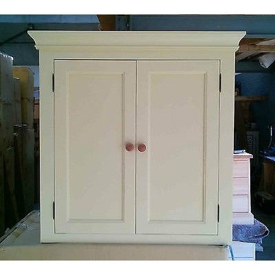 Solid pine kitchen wall cupboard (painted) - Woodliving