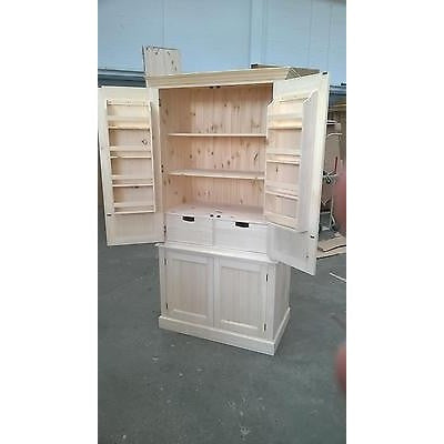 Solid Pine Larder / Pantry Cupboard - Woodliving