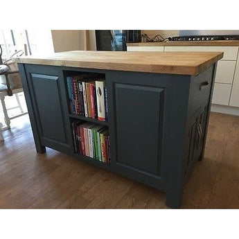 Solid Pine Island Unit, painted to your specification, solid oak worktop - Woodliving