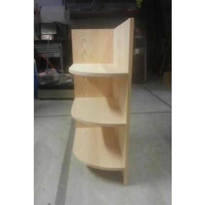 Solid Pine corner shelf unit - Woodliving