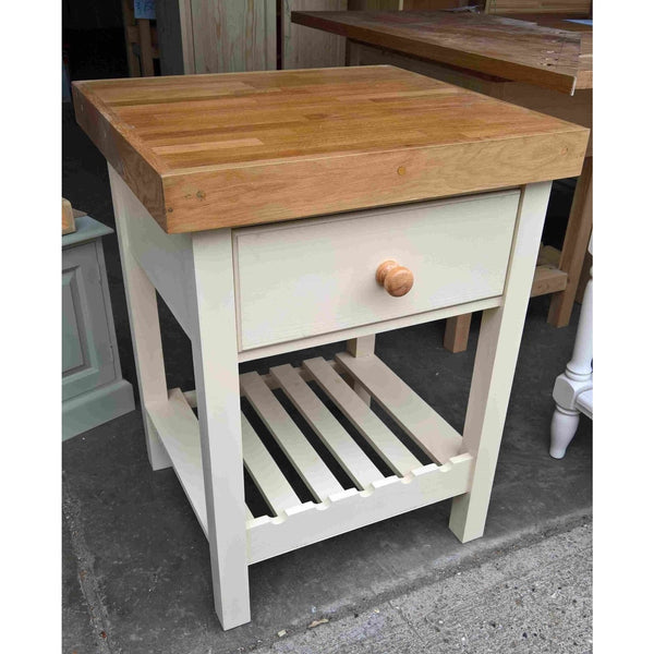 Solid Pine Butchers Block with Thick Oak Top - Woodliving