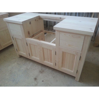 Solid Pine Belfast Sink Kitchen Unit for 600mm width sink - Woodliving
