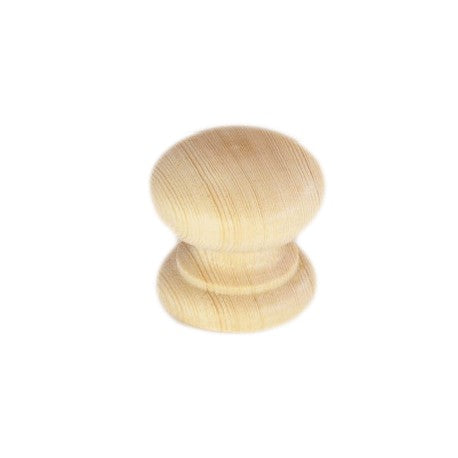 34mm In Diameter Unfinished Victorian Style Pine Cabinet Knob - Woodliving