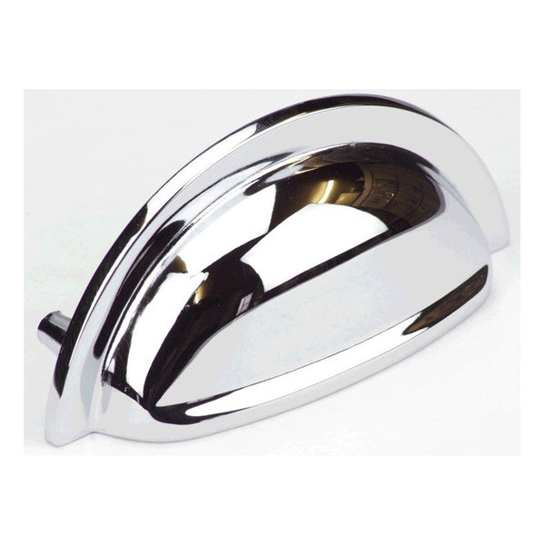 95mm In Length Polished Chrome Finish Cup Cabinet Pull Handle - Woodliving