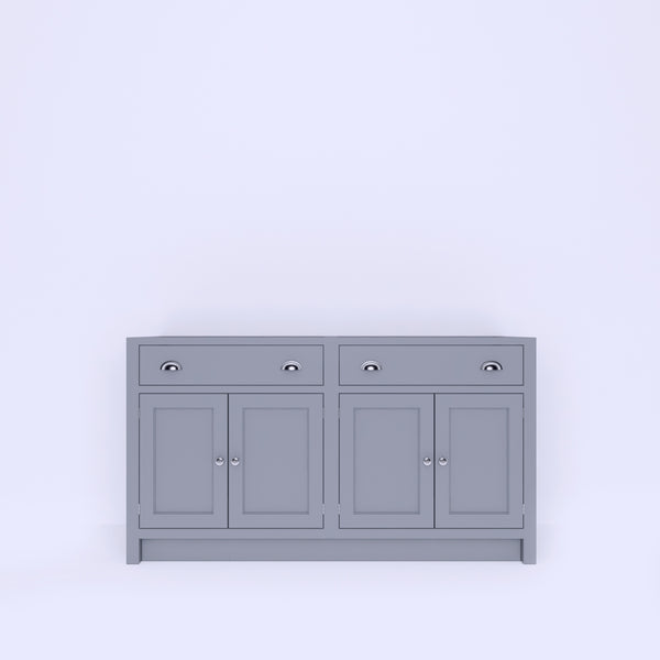 Base Unit 2 Drawers + 4 Doors (BUDD4-1350 to 1750) - Woodliving