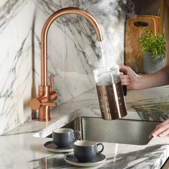 Abode Pronteau Prostream 3 in 1 Instant Hot Water Tap - Urban Copper - PT1105 - Woodliving