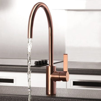 Just Taps Rose Gold Single Lever Kitchen Sink Mixer Tap - Woodliving