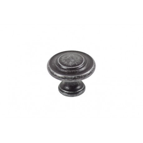 34mm In Diameter Pewter Effect Traditional Pattern Cabinet Knob - Woodliving