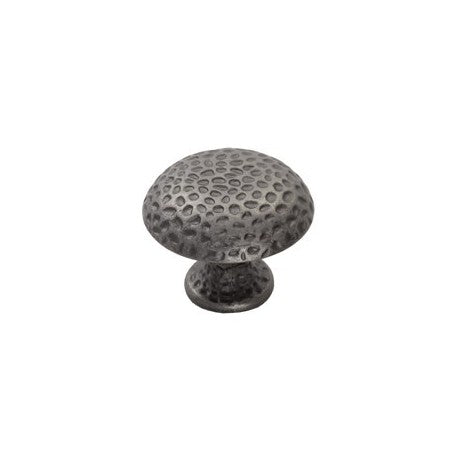 Antique Brass Dimpled Mushroom Design Cabinet Knob In 2 Sizes - Woodliving