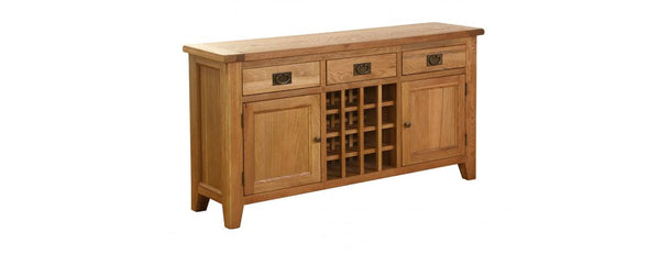 NB018-V - 3 Drawer 2 Door Wine Table - Woodliving