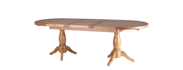NB139 - Twin Pedestal Extension Dining Table 1.9 - 2.4 - Woodliving