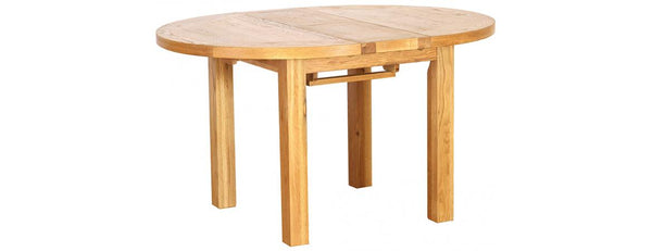 NB082-V - Round Extension Dining Table 1.1 - 1.4 - Woodliving