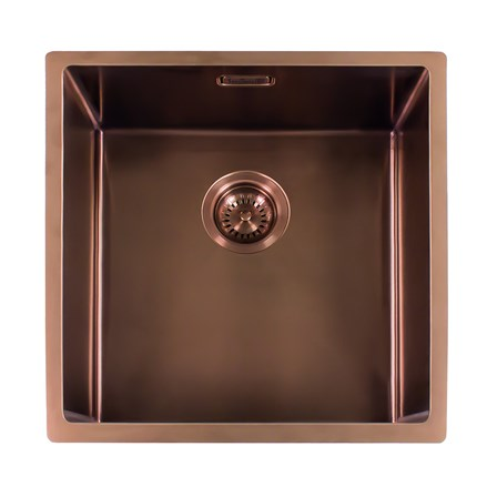 Reginox Miami Single Bowl Integrated/Undermount Stainless Steel Kitchen Sink - Copper - 540 x 440mm - miami-50x40-copper - Woodliving