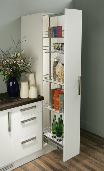 Pull Out Larder Unit with Wire Baskets - Woodliving
